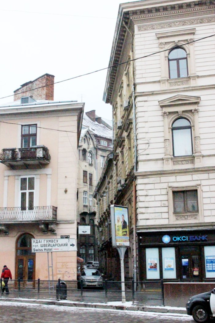 Вул. О. Нижанківського від площі Галицької, фото 2015 року