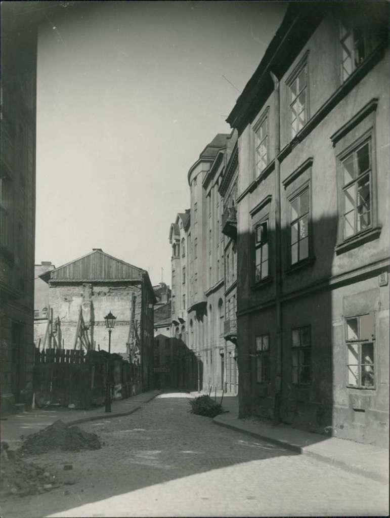 Вуличка Крива на фото Марека Мюнца, 1925 рік