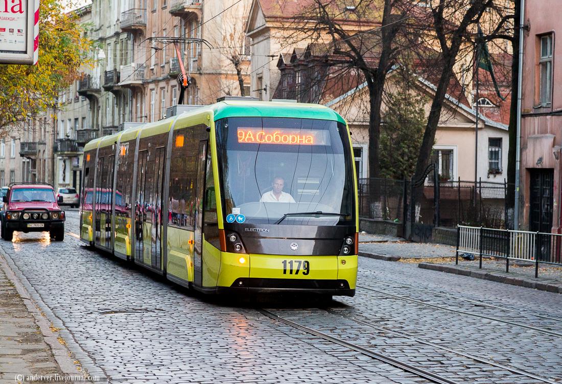 трамвай електрон львів електротранспорт