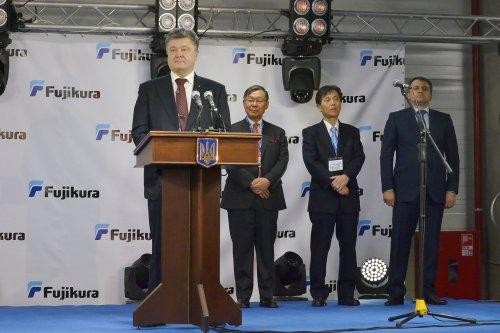 """Під час відкриття """"Фуджікури"""" 14 квітня 2016 року"""