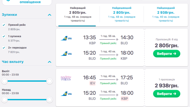 Сервіси для пошуку недорогих авіаквитків
