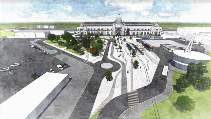 Як і коли реконструюють Двірцеву площу біля вокзалу - візуалізація 🏙️