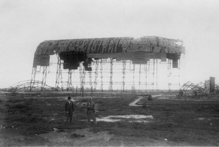 Залишки російського ангару на левандівському летовищі, фото, 1915 рік.