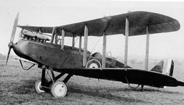 Літак Airco D.H.9 6-ї польської ескадри в британському окрасі, фото, 1920 рік.