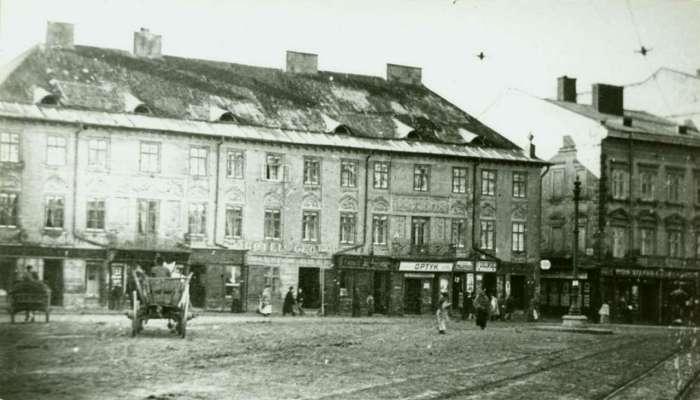 """Готель """" De La Rus """", попередник готелю """" Жорж """", фото 1890 року"""