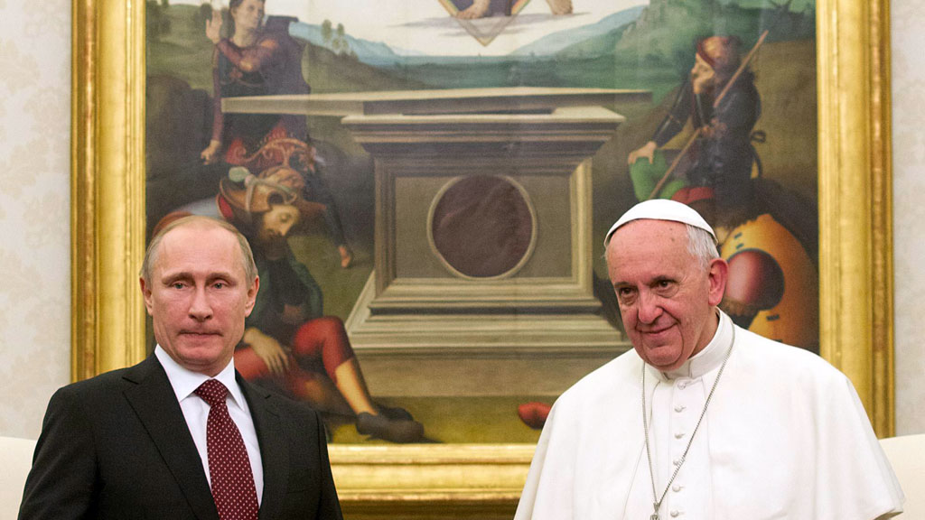 путін і папа римський