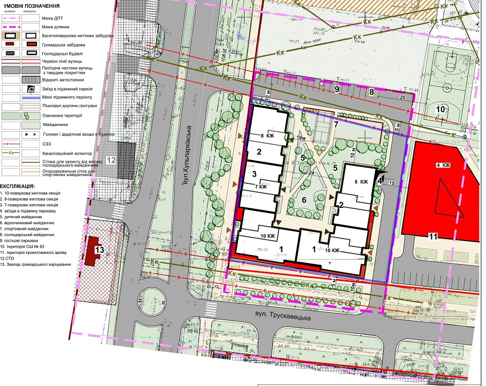 Проектний план запланованого будівництва