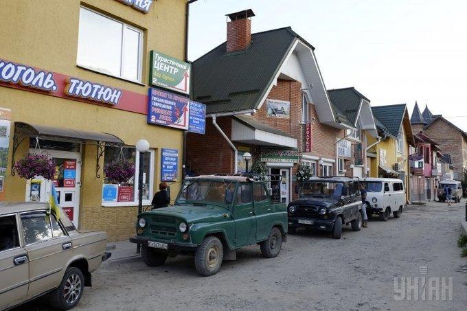 На вулицях Славського Фото: УНІАН