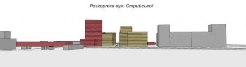Вид на будинки з вул. Стрийської