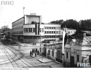 Колишня будівля MZE на фото 1938 року