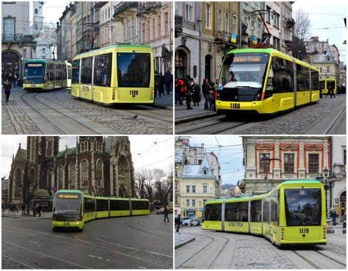 """Трамваї """"Електрон"""" львівського виробництва."""