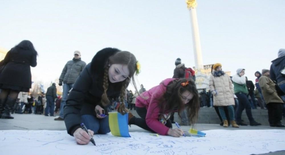 27 листопада, Київ, студенти пишуть листа Янукович