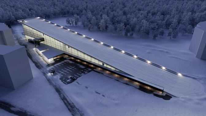 Спорткомплекс з лижним спуском на даху у Львові Сихів