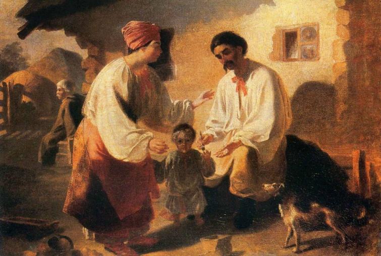 """""""Селянська родина"""", Тарас Шевченко, 1843 рік"""