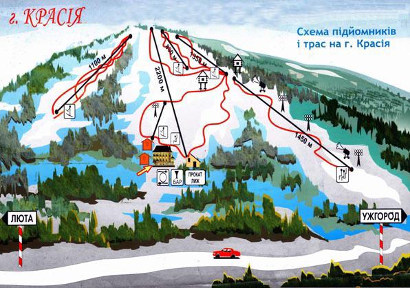 """Гірськолижний курорт """"Красія"""", Закарпатська область"""