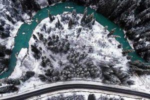 До Львова суне дощ, а в Карпатах справжня зимова казка. Фото