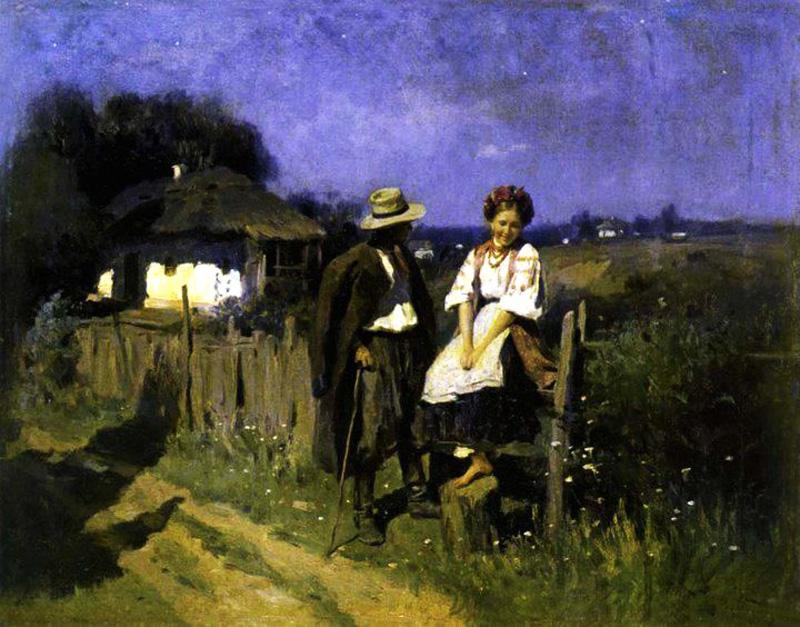 """Побачення"", 1905 р. художник М.К. Пимоненко"