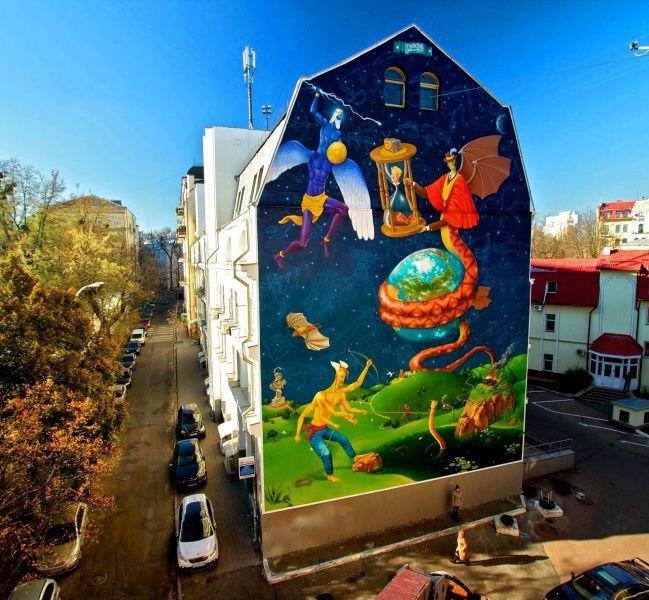 На фото: Київ, мурал «Час змін» на вул. Стрілецькій