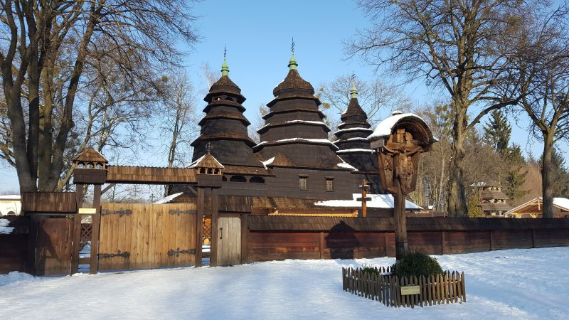 На фото: церква Премудрості Божої 1763 року. Шевченківський гай, Львів
