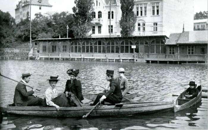На Панянському ставі. Фото Адама Ленкевича до 1914 року