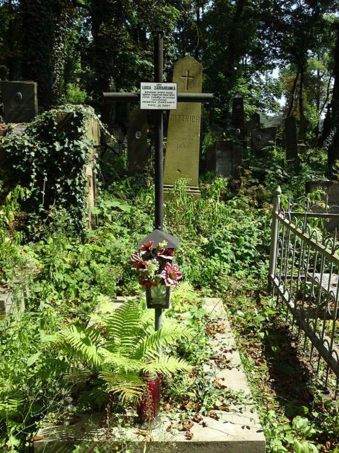 Могила Люсі Заремби на Личакові. Фото наших днів