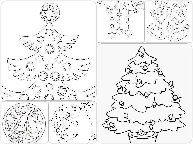 Схеми для вирізання новорічних гірлянд
