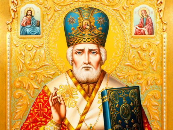 Ікона з Базиліки Святого Миколая в м. Барі (Італія). Є припущення, що вона була написана на основі прижиттєвого зображення Святого.