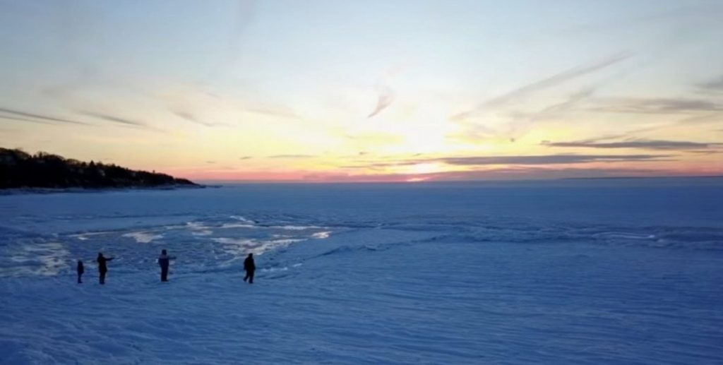 США замерз океан