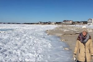 Біля берегів США замерз океан: відео неймовірної аномалії підірвало мережу (відео, фото)
