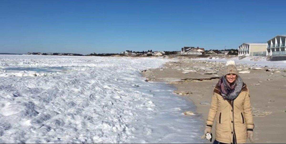 Біля берегів США замерз океан