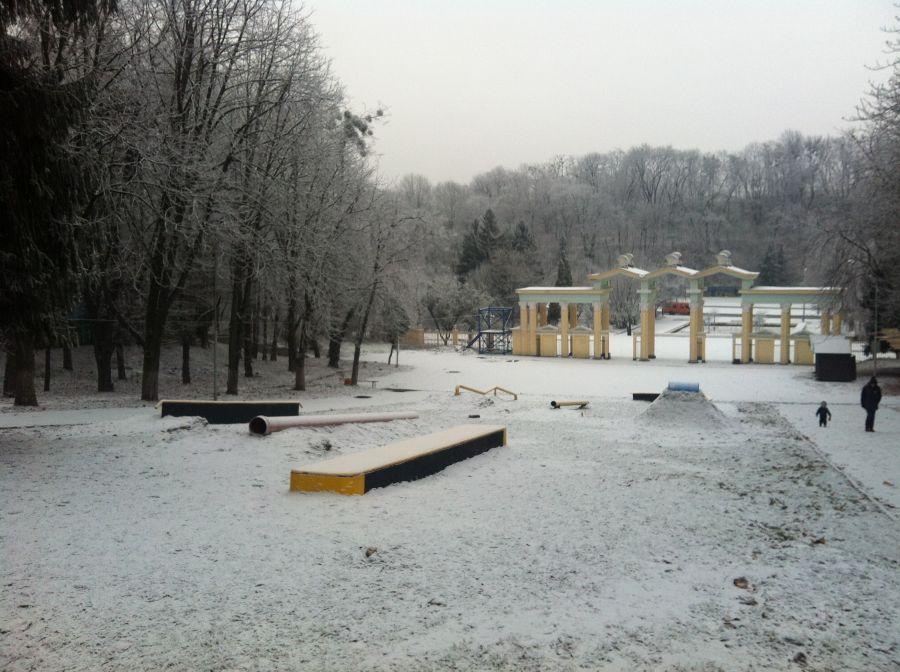парк культури зима львів