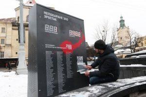 У Львові запустили електронне табло, яке рахує покараних за злочини проти Євромайдану