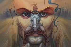 Картини, на які потрібно поглянути двічі: оптичні ілюзії від українського художника