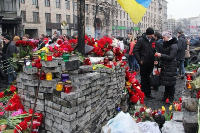 23 лютого, кияни вшанували пам'ять загиблих. Фото Віктор Гурняк, Insider