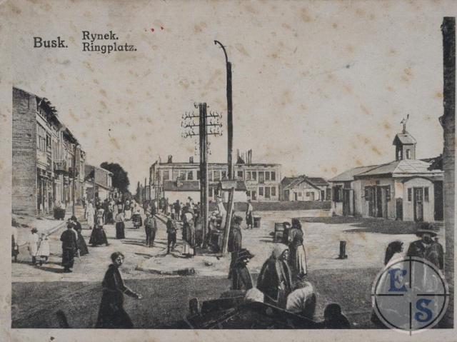 Центр Буська на початку ХХ ст.
