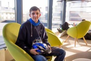Львівський студент створив «розумний» аксесуар до велошолома. Фото