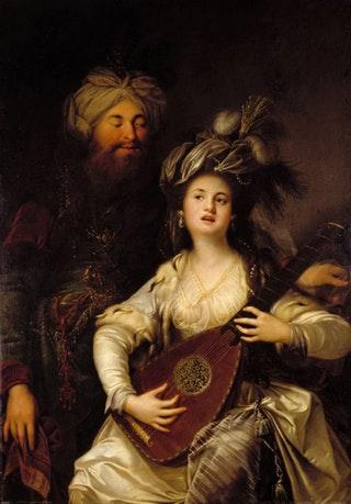 «Роксолана і султан», картина Антона Хікеля, 1780 рік. Джерело: Landesmuseum Mainz / Wikipedia