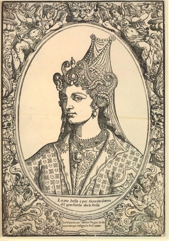 Матео Паґані, «Султана Роксолана», 550 рік. Єдиний з портретів, який можна назвати відносно достовірним. Джерело: British Museum / Wikipedia