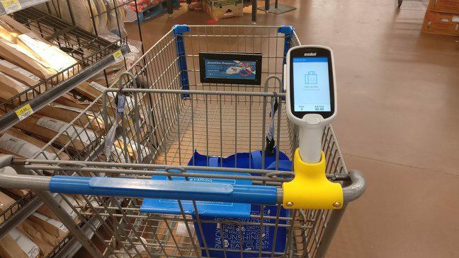 19. Магазинний візок зі сканером, який підрахує суму покупок