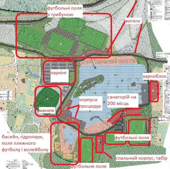 План розбудови території довкола Винниківського озера