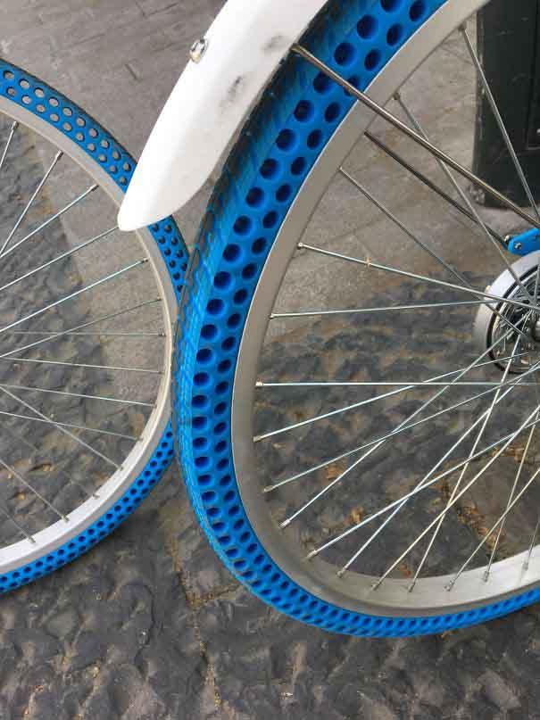 16. Безповітряні велосипедні шини, які не треба накачувати.