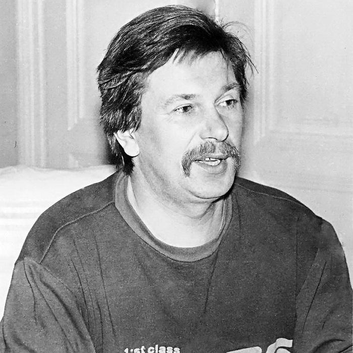 Ігор Білозір у свій 37-ий день народження. Фото: Михайла Маслія. 1992 рік