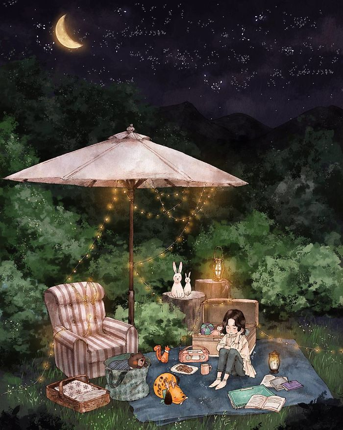 Щастя наодинці: Корейська художниця довела, що самотні можуть бути щасливими