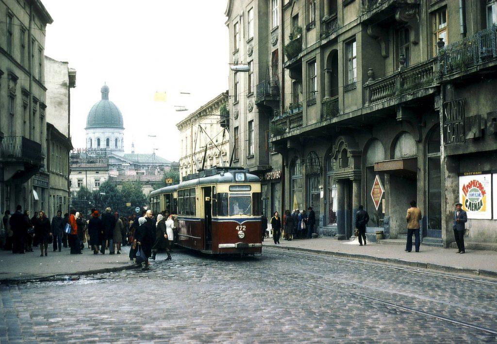 Початок вул. Богдана Хмельницького, 1978.