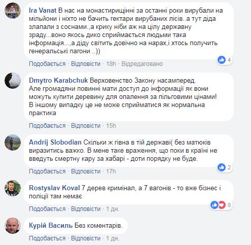 Скріншот коментарів (facebook.com/gynp.ternopil)