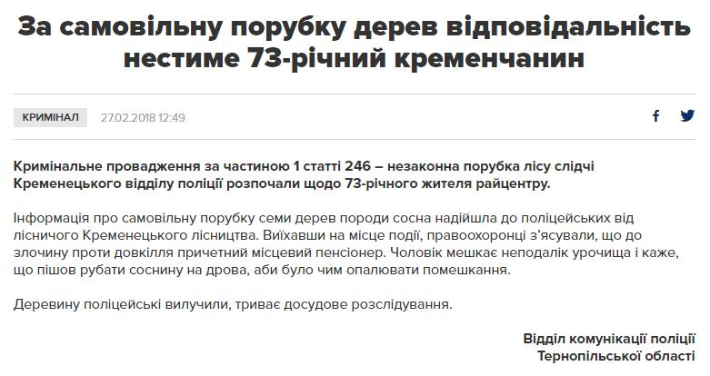 Скріншот сайту (tp.npu.gov.ua)