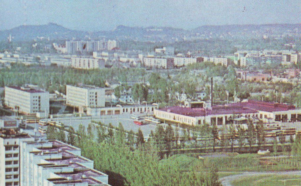 Панорама тролейбусного депо, 1979 рік.