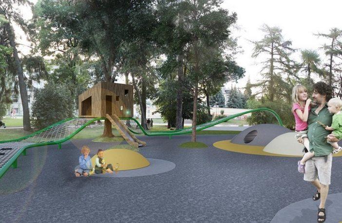 Концепція дитячого майданчика на площі Святого Юра архітектурного бюро «А44 »