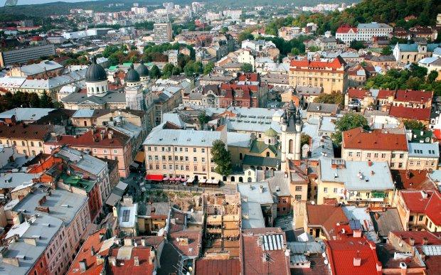Вид на Львів з Ратуші вдень