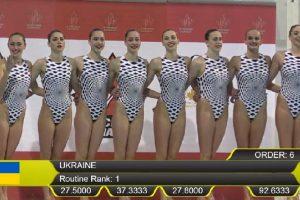 Українські синхроністки здобули 6 золотих медалей з шести можливих на етапі Світової серії